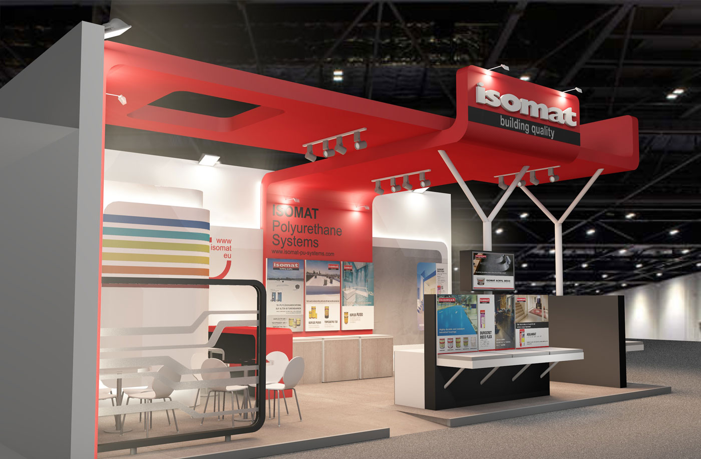 Exhibition Stand Projects : Isomat exhibition stand