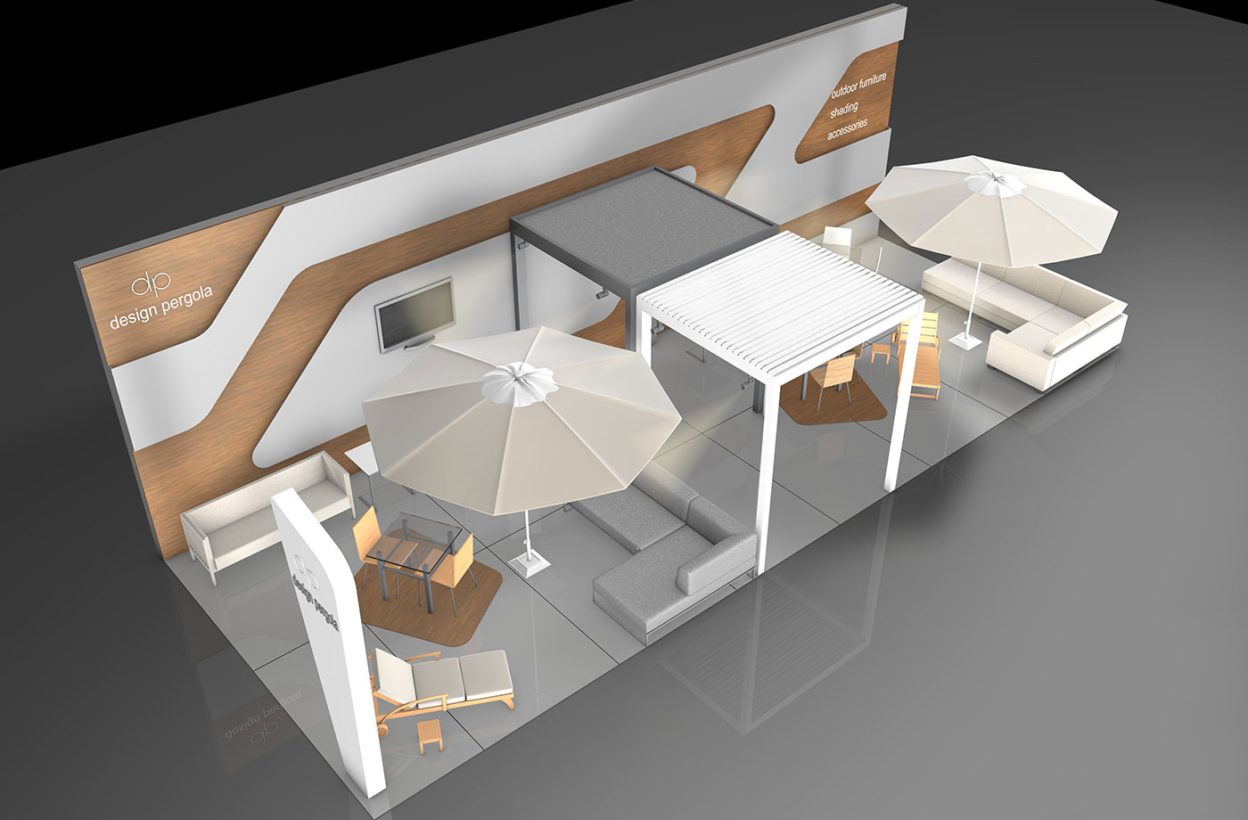 Exhibition Stand Projects : Design pergola exhibition stand