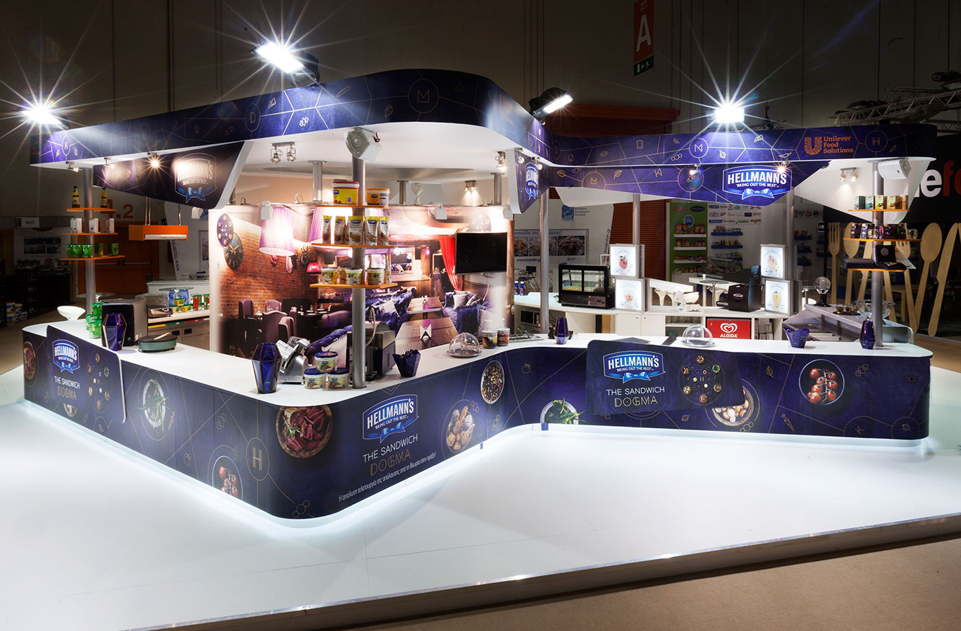 Exhibition Stand Projects : Unilever exhibition stand